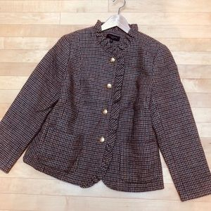 Talbots tan, brown and rust wool blazer 14petite